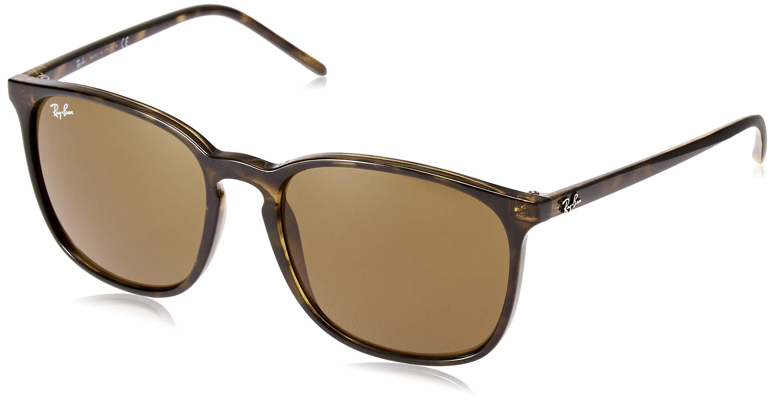 RAY-BAN RB4387 Round Sunglasses, Havana/Dark Brown, 56 mm by RAY-BAN