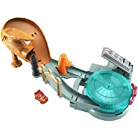 Disney Pixar Cars Mini Racers Radiator Springs Spin Out Playset with Pitty and Exclusive Lightning McQueen Vehicle…