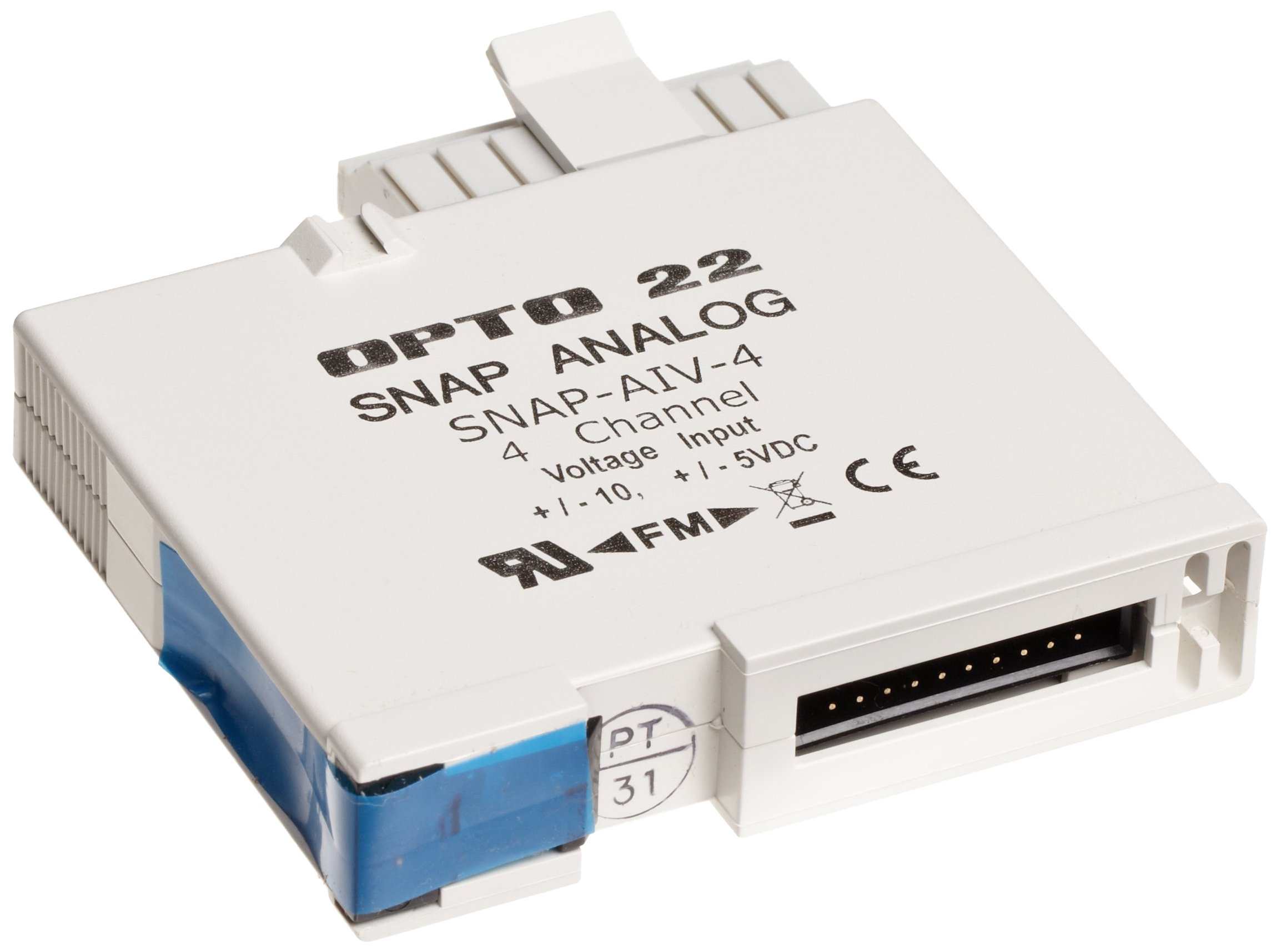 Opto 22 SNAP-AIV-4 - SNAP Analog Input Module, 4-Channel, -10 VDC to +10 VDC or -5 to +5 VDC Input