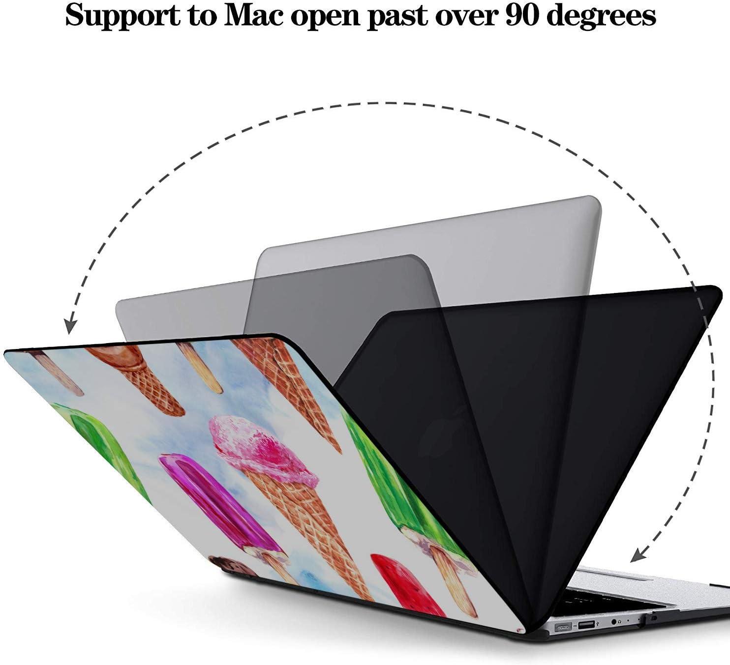 2017 MacBook Pro Case Summer Dessert Pointer Ice Cream Plastic Hard Shell Compatible Mac Air 11 Pro 13 15 MacBook Air Protective Cover Protection for MacBook 2016-2019 Version