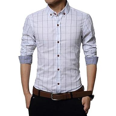 085e05c6db4207 チェック ワイシャツ メンズ カジュアル 人気 かっこいい スレンダー お洒落 ボタンダウン 長袖 スリム yシャツ (NAIL39
