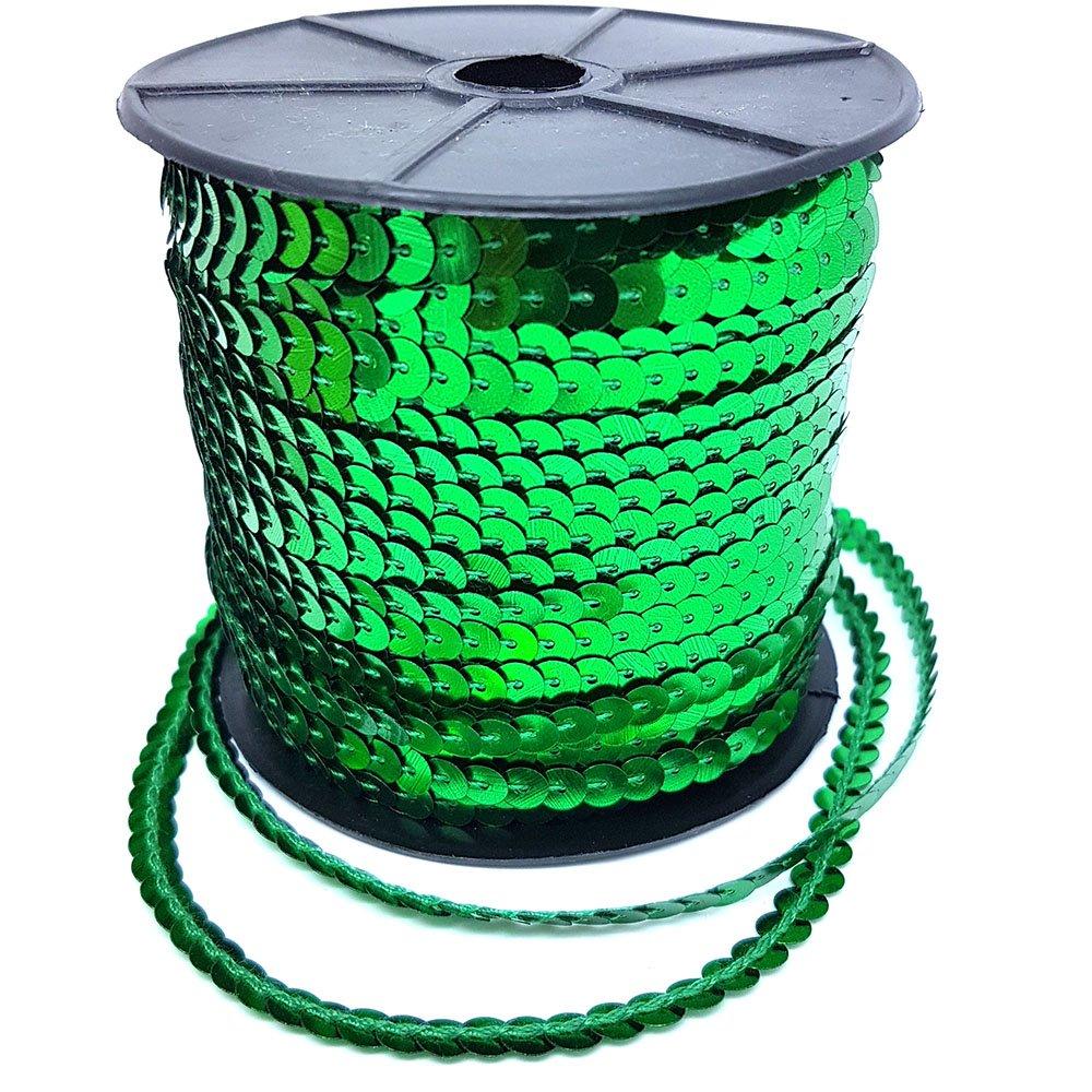 91, 4m di paillettes finiture artigianali pizzo decorazione abito design 5mm oro argento verde rosso verde di accessori soffitta® Green Accessories Attic