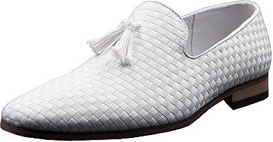 Galax Mocasines Hombre, Blanco (Blanco), 39: Amazon.es: Zapatos y complementos