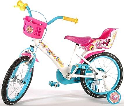 Bicicleta Niña Soy Luna 16 Pulgadas Ruedas Extraíbles la Cesta y ...
