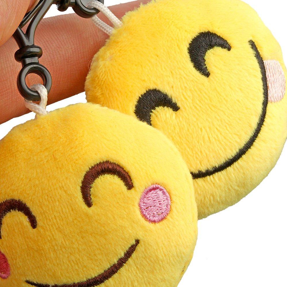 Amazon.com: Encheng - Llavero de felpa Emoji con diseño de ...