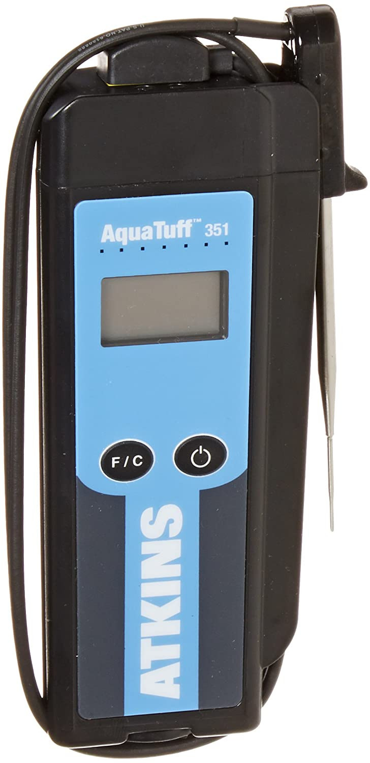 Cooper-Atkins 35140 Series 351 AquaTuff Wrap&Stow Waterproof Thermocouple Instruments with MicroNeedle Probe, -100 to +500 degrees F Temperature Range