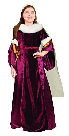 382efef542e45 Amazon.com  Museum Replicas Queen Guinevere Girls Renaissance Costume  Medieval Gown Halloween Dress  Clothing