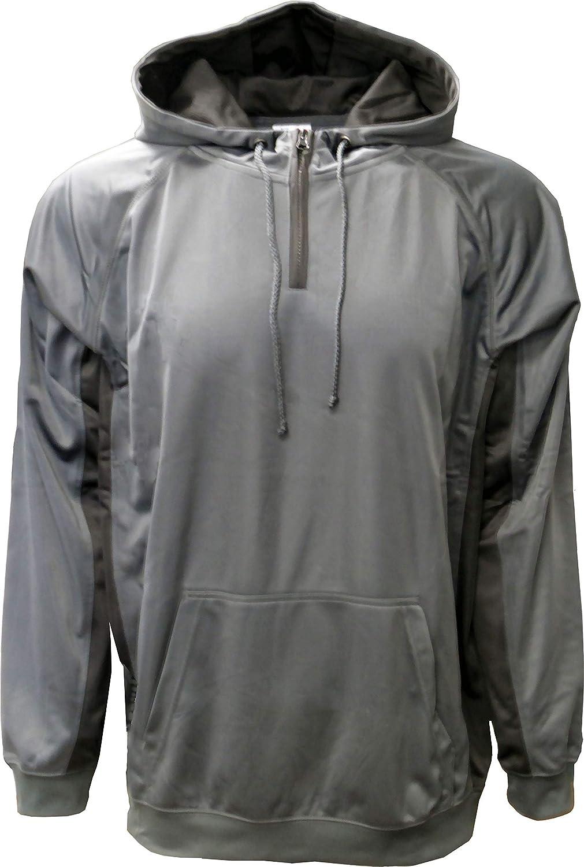 SPECIEN Mens Quarter Zipper Performance Hooded Pullover Sweatshirt Hoodie Windbreaker Jacket
