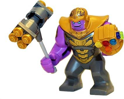 Thanos Marvel Super Heroes Lego Mini Figures Avengers Superhero Minifigures