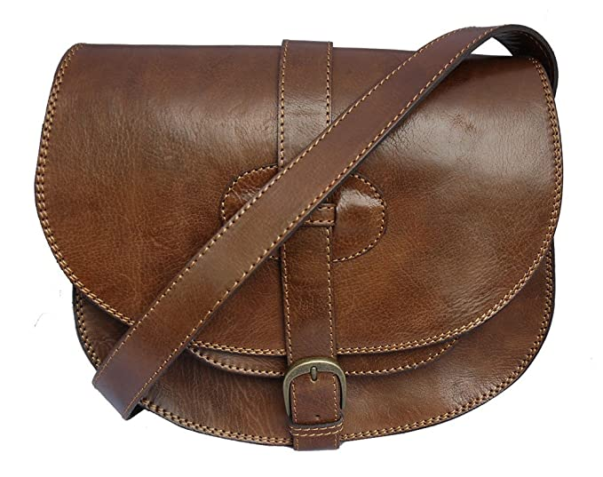 Image Unavailable. Image not available for. Colour  Genuine Leather Saddle Style  Handbag shoulder bag in Brown be4d3b6da2deb
