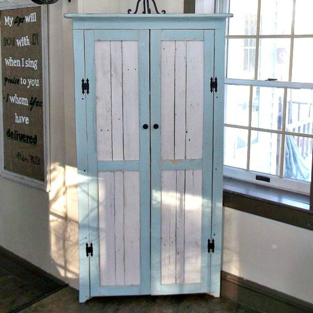 Amazon Corner Cabinet With Reclaimed Wood Doors Shelves