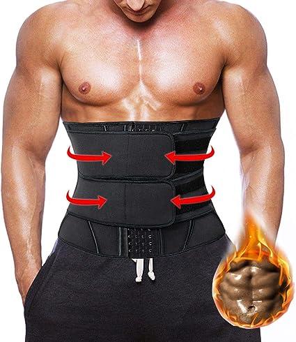 Men/'s Waist Trainer Cincher Belt Corset Sweat Body Shaper Tummy Control Girdle