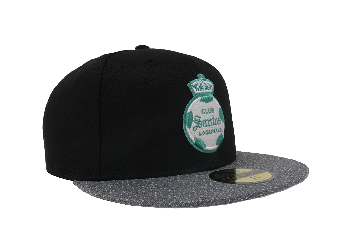 Amazon.com: New Era 59Fifty Hat Santos Laguna Soccer Club Liga MX Official Black/Gray Vize Cap: Clothing