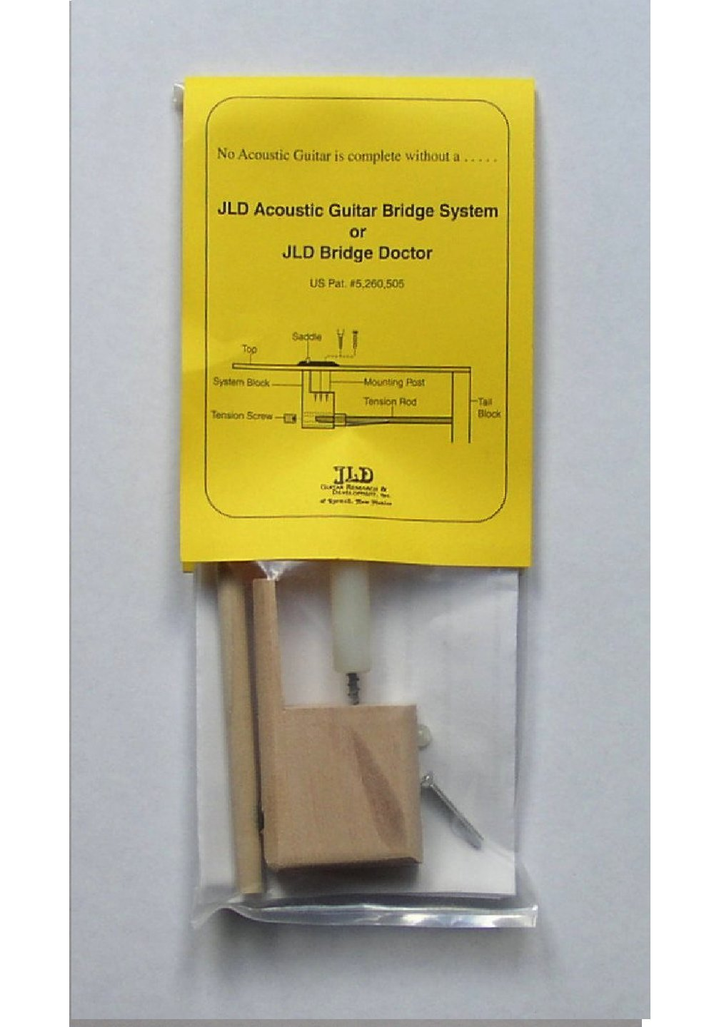 JLD Bridge Doctor Screw Mount JLD Guitar Research & Development #AN3694