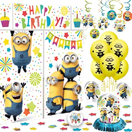 Amazon.com: Deluxe Despicable Me Minions Birthday Party ...