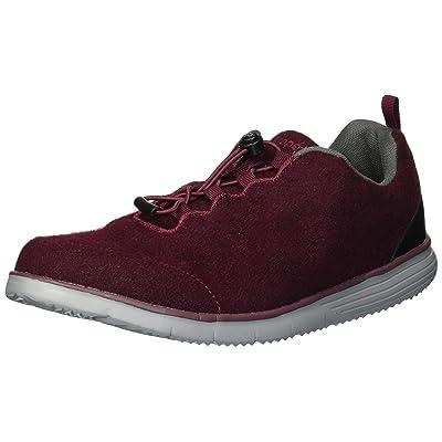 Propet Women's TravelFit Prestige Sneaker, Burgundy Flannel, 9H Narrow US   Shoes