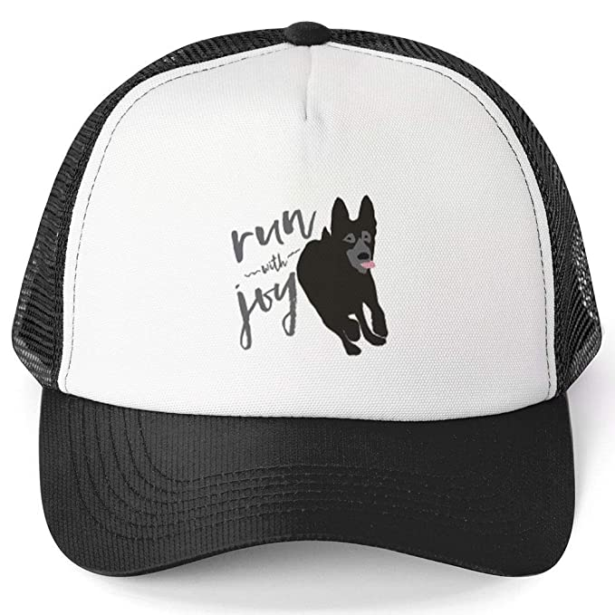 c5b9644dbf7a4e Running Trucker Hat | Run with Joy | Black at Amazon Men's Clothing ...