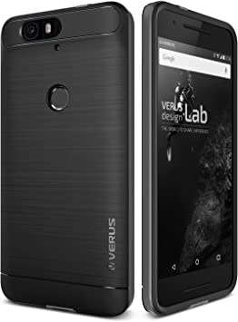 Verus Nexus 6P Funda, High Pro Shield [Color Plata Oscuro] Steel ...