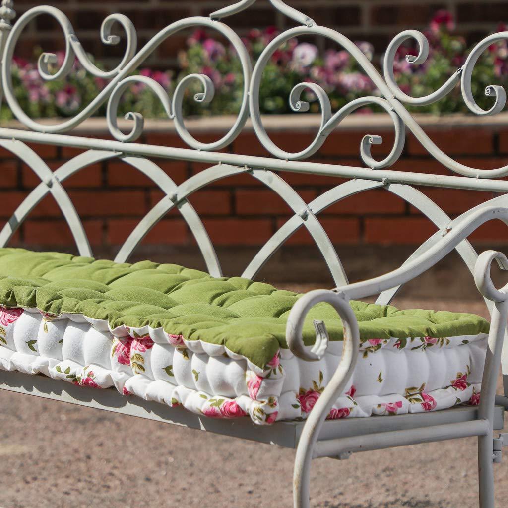2-Sitzer 110 cm lang wasserabweisend Dibor Gartenbank Blumenmuster