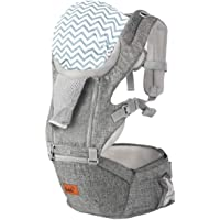 Bable Baby Carrier for Newborn to Toddler (8-33lbs), 6-in-1 Convertible Carrier with Hip Seat, Ergonomic Baby Carrier…