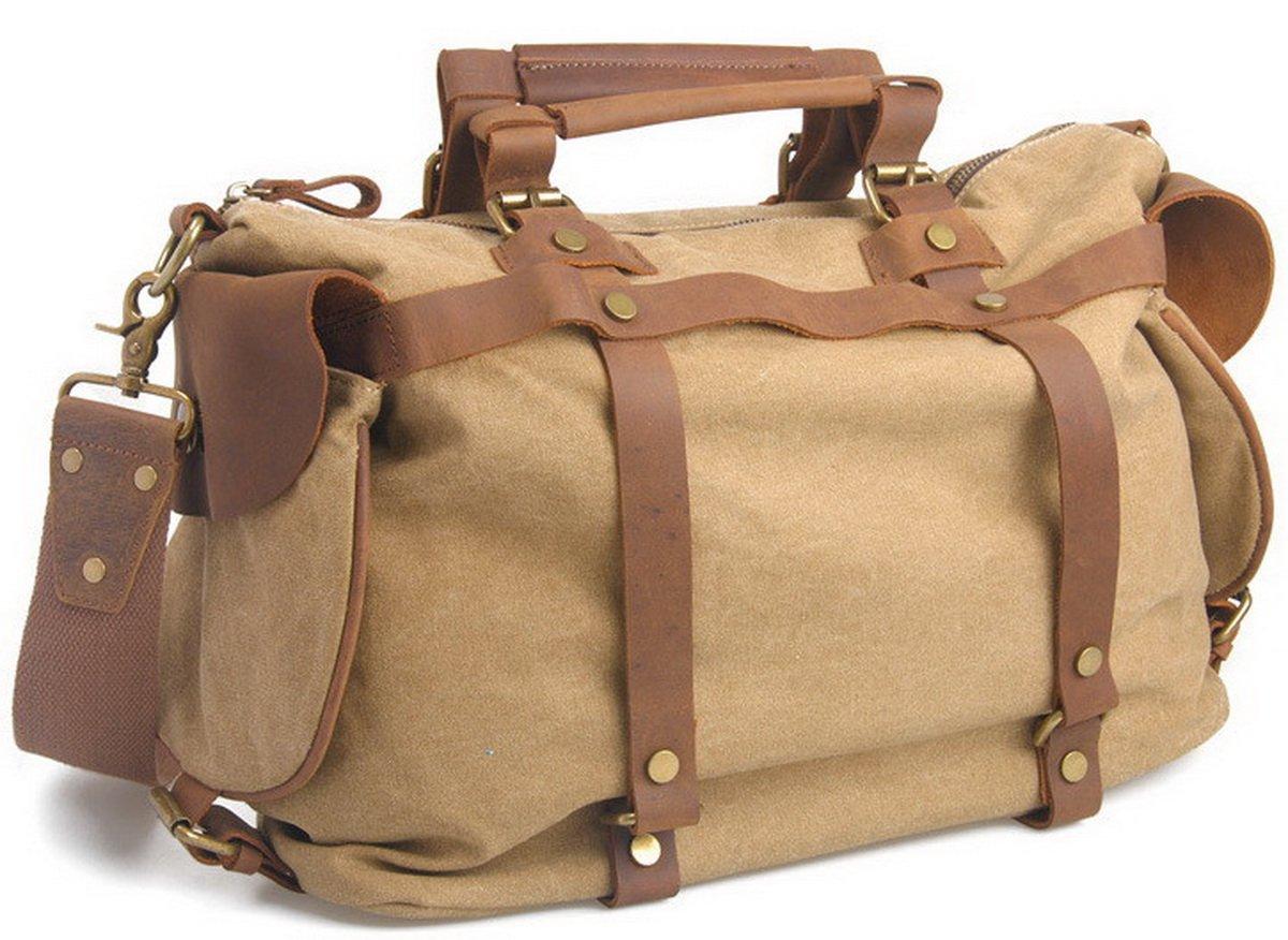 Vagabond Traveler Classic Antique Sytle Cotton Canvas Doctor Bag C73.KK