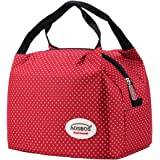 Aosbos Reusable Insulated Lunch Box Tote Bag (Macloon White)