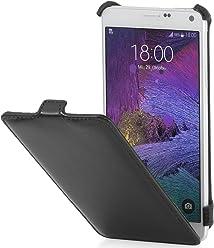 StilGut Slim Case, Housse pour Samsung Galaxy Note 5, en Noir Vintage