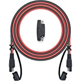 POWISER 12Feet SAE to SAE Extension Cable Quick Disconnect Connector 16AWG,for Automotive,Solar Panel Panel SAE Plug…