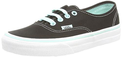 dbd9ca15e1 Image Unavailable. Image not available for. Color  Vans Authentic Pop Black  Blue Tint Men s Classic Skate Shoes Size 8