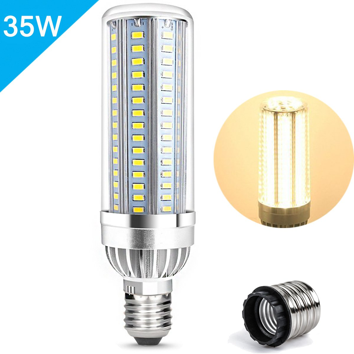 Lampadine led e27 25W LED Mais lampada Equivalenti 250W Bianco Freddo 6500K 2500LM Super Luminosa Non Dimmerabile [Classe di efficienza energetica A+] AWE-LIGHT