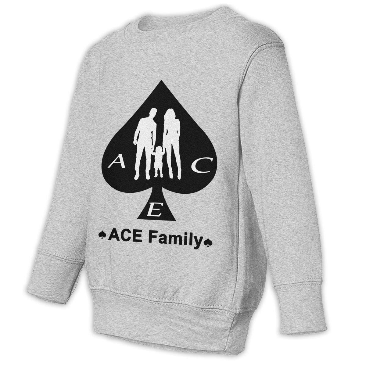 ACE Family Logo Kids Hip Hop Hoodie Classical Sweater Round Collar Hooded Sweatshirts