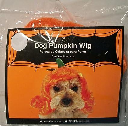 SimplyDog Halloween Pumpkin Dog Wig