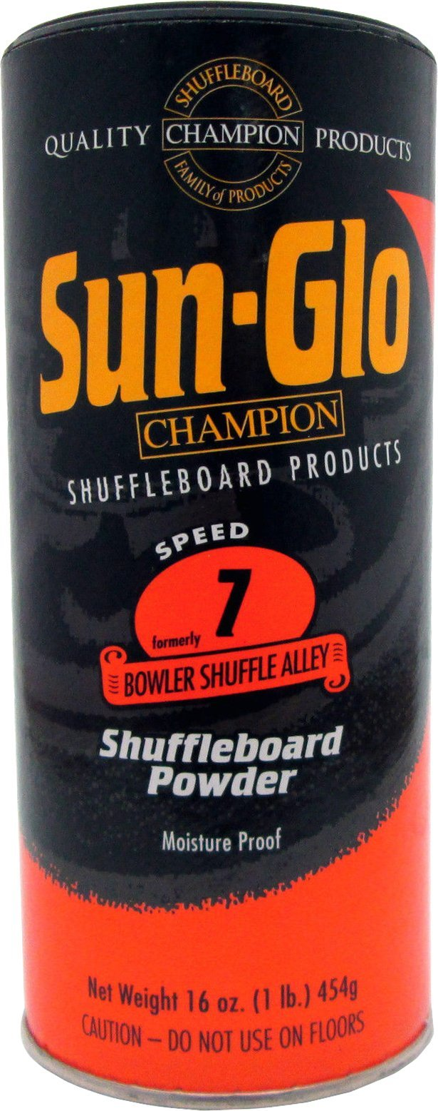 Sun-Glo Speed 7 (Bowler Shuffle Alley Wax) Shuffleboard Table Powder, 16 oz. Can by Sun-Glo