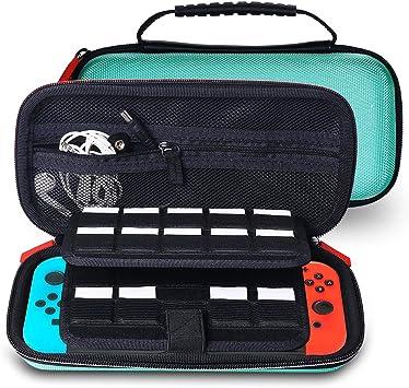 GENORTH Funda para Nintendo Switch Lite, funda protectora rígida y gran bolsa de viaje para accesorios para Nintendo Switch Lite: Amazon.es: Videojuegos