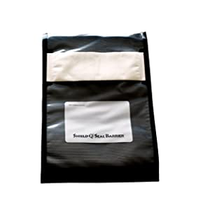 ShieldNSeal 8″ x 12″ Clear and Black Vacuum Seal Barrier Bags SNS 3100