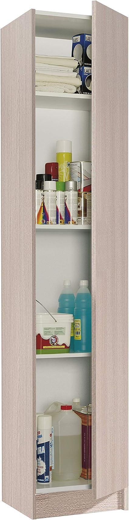 Oferta amazon: Habitdesign Armario Multiusos, 1 Puerta, Columna, Acabado en Color Roble, Medidas: 37 cm (Ancho) x 182 cm (Alto) x 37 cm (Fondo)