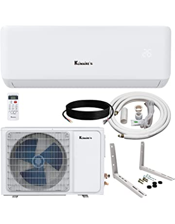 Klimaire Ductless Mini-Split Inverter Air Conditioner Heat Pump System with 15 Ft. Installation