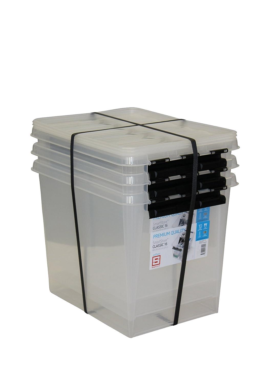 cc8eb74df707c8 Orthex 34930703 3er Set Clipbox Smart Store Classic 16 Aufbewahrungsbox  Plastik 40 x 30 x 32 cm, transparent: Amazon.de: Küche & Haushalt