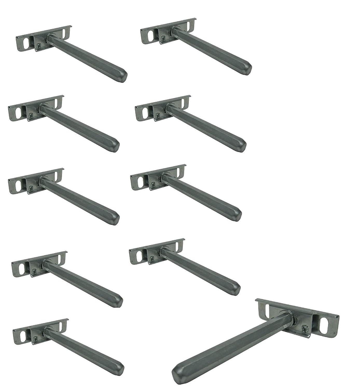 10 X Regaltrager Regalbodentrager Tablartrager Halterung Regalhalterung Regalhalter Unsichtbar Samwerk