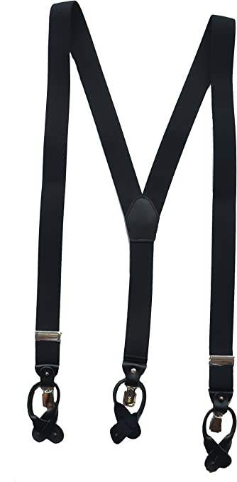 Cloud Rack MenS Suspender With Convertible Clip Button End And Strap