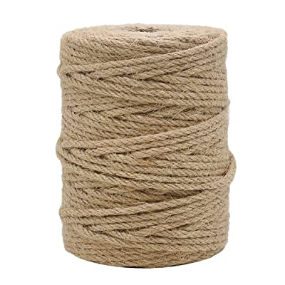 Tenn Well 164 Feet 4mm Natural Jute Twine, Brown Twine Rope for Crafts, Gift Wrapping, Packing, Gardening Applications and Holiday Decorations : Office Products