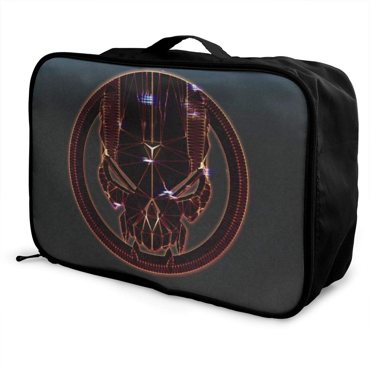 Pirates Of The Caribbean Skull Customize Casual Portable Travel Bag Suitcase Storage Bag Luggage Packing Tote Bag Trolley Bag