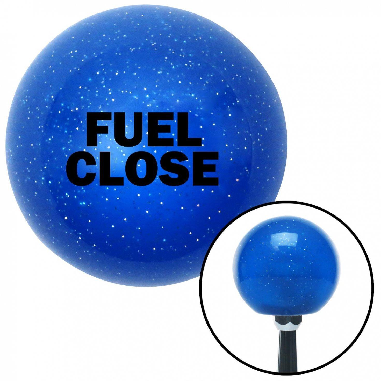 American Shifter 20945 Blue Metal Flake Shift Knob with 16mm x 1.5 Insert Black Fuel Close