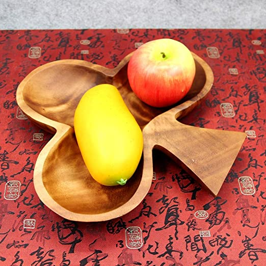 6-petal birch bark plate for sweets fruit tray bread and fruit # 657 Wooden tray rustic decor With the image of a Rowan tree