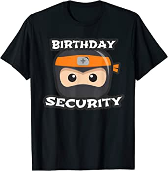 Amazon.com: Kids Birthday Security Ninja Squad Mom Dad ...
