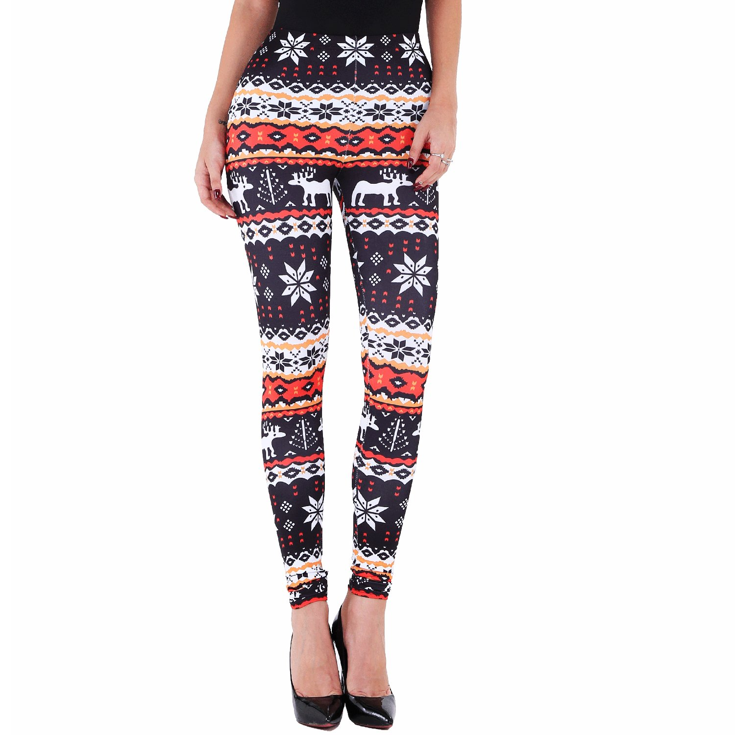 50161958967e5d Flake graphic reindeer geometrical designs printed/stretch/leggings pants  for Christmas Day and other festive holidays. Leggings pants, fit for Yoga,  ...