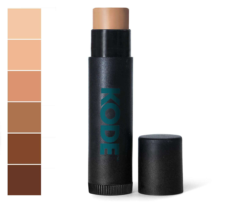 KODE Mens Concealer Stick for Blemish, Acne, Dark Circles, and Scars - Medium to Dark - 0.15 oz