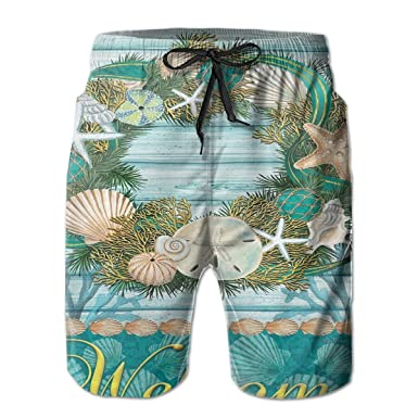 d9ec3431a9 Amazon.com: Shells of The Sea Men's Loose Board Shorts Slim Fit Short  Trousers Printed Shorts Swimming Trunks: Clothing