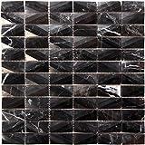 4x8 Soft White Wide Beveled Subway Ceramic Tile
