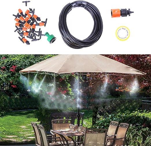 RSG 10 m ajustable 15 aspersor automático riego riego jardín riego sistema Kit jardín planta hierba atomización riego: Amazon.es: Jardín